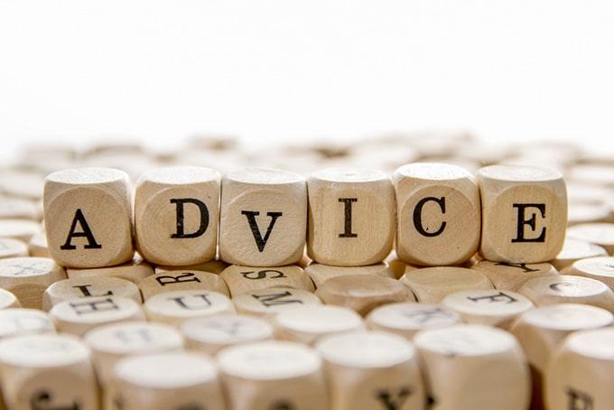How do you give advice?