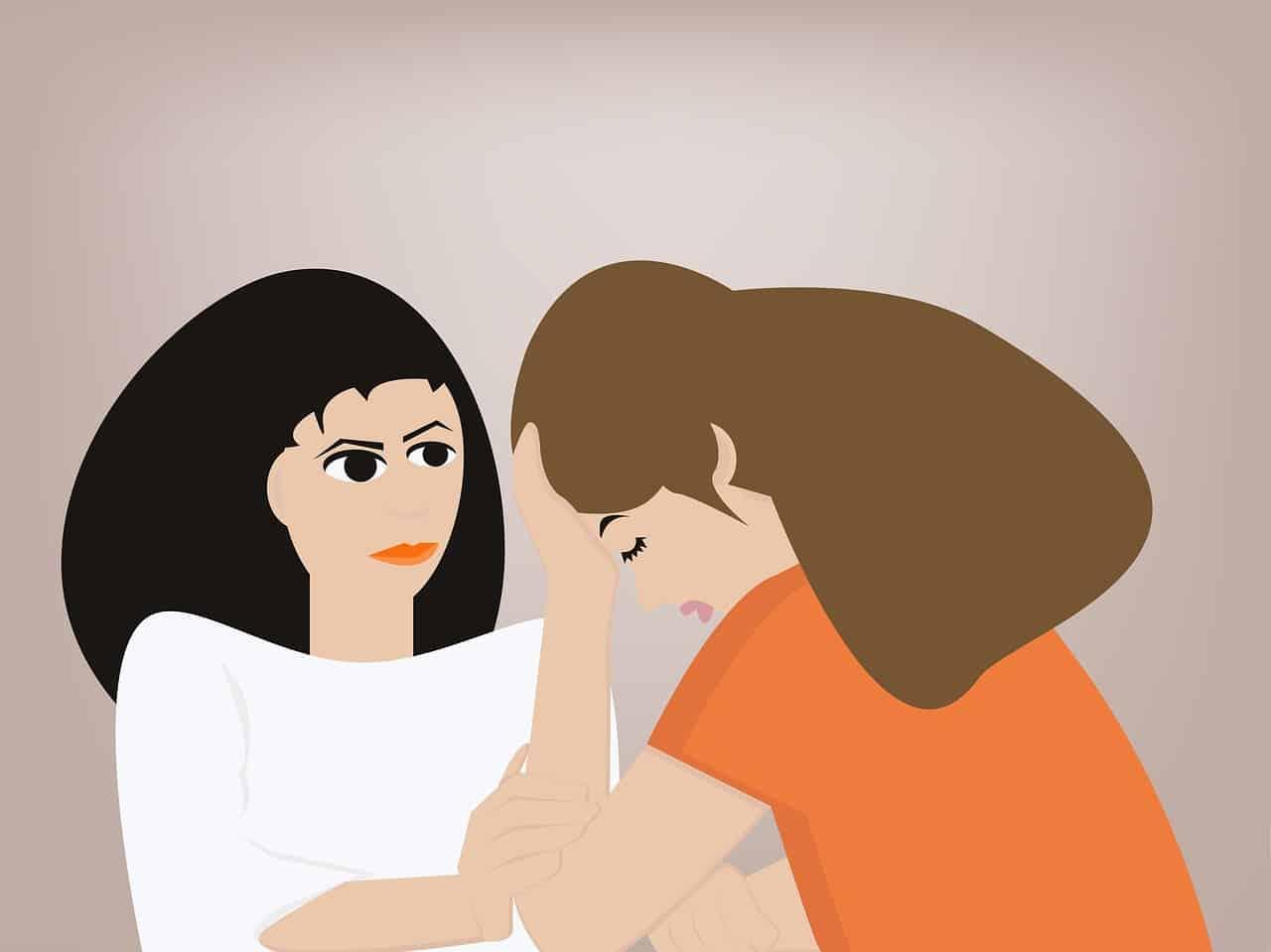אישה מקשיבה לאישה