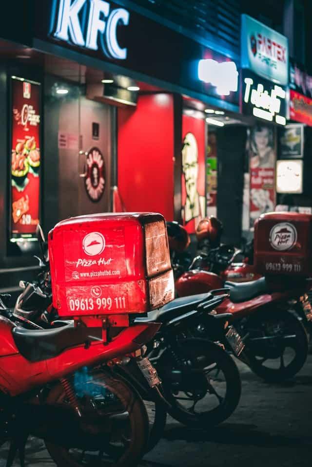 אופנוע שליחויות