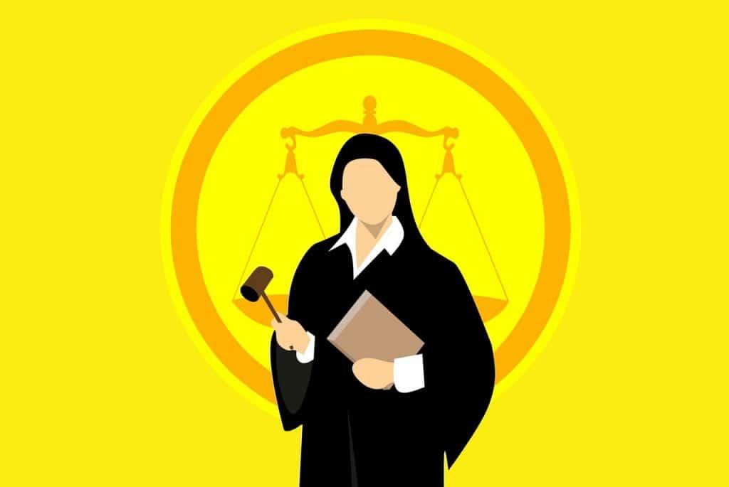 עורכת דין רקע צהוב