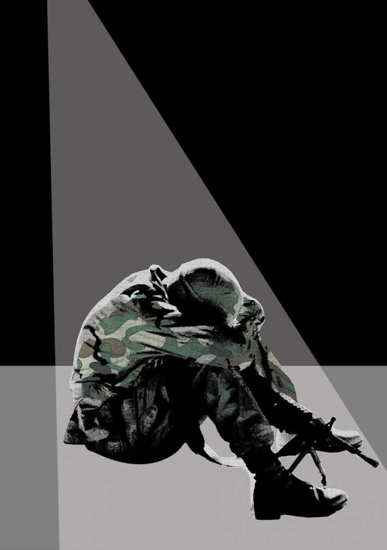 חייל מרגיש לא טוב